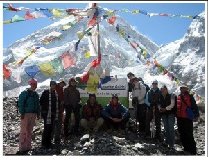IMG Sherpa Trek team before they departed base camp. (photo: Ang Jangbu)