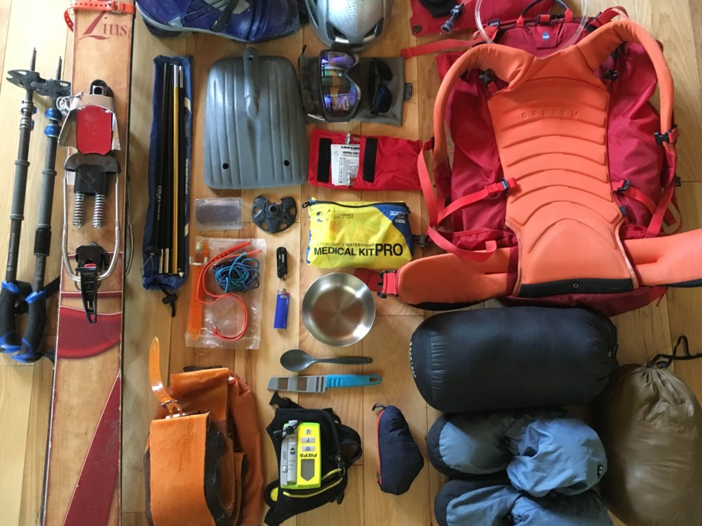 Backcountry Skiing packing list