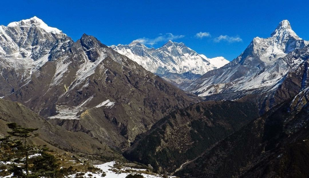 Khumbu Valley with Photse visible