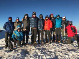 IMG climbers on summit of Mt. Rainier