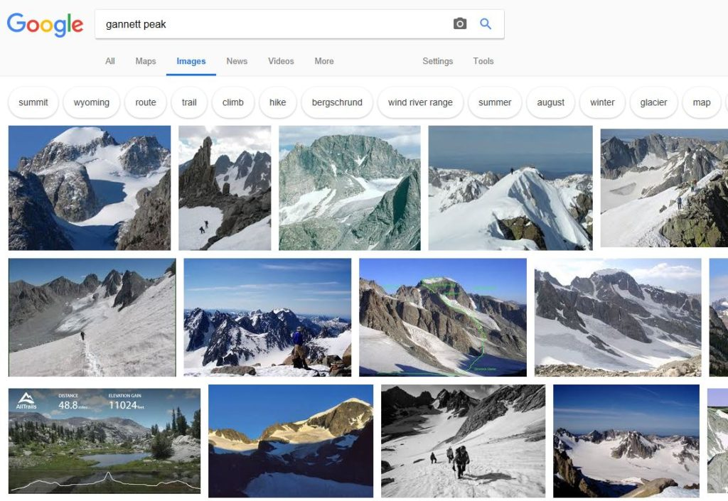 Google image results for gannett peak