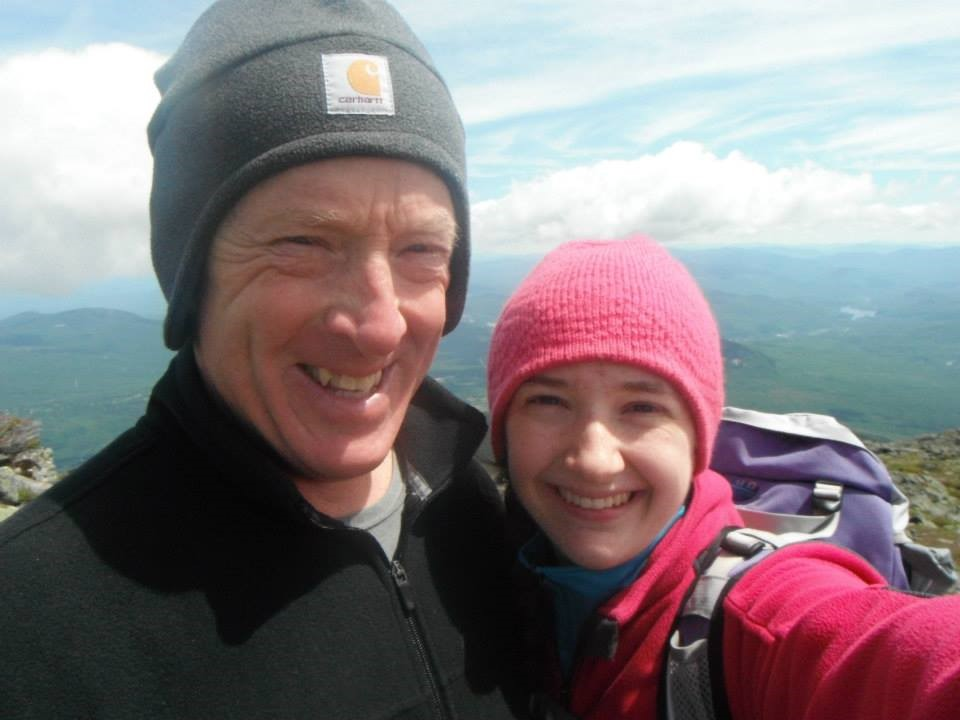 My dad and I after hiking up Mt. Lafayette