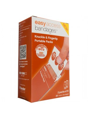Easy Access Bandages™ Fabric, Knuckle & Fingertip, 20 Count