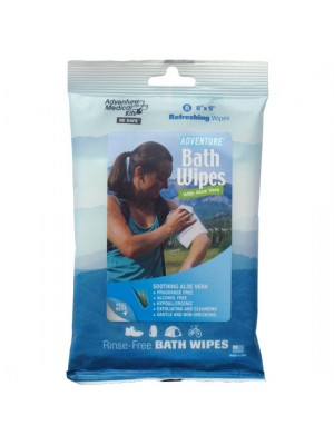 Adventure Bath Wipes - Travel Size, Pkg./8