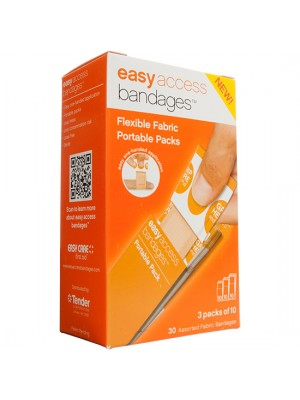 Easy Access Bandages® Fabric, Assorted Pack, 30 Count