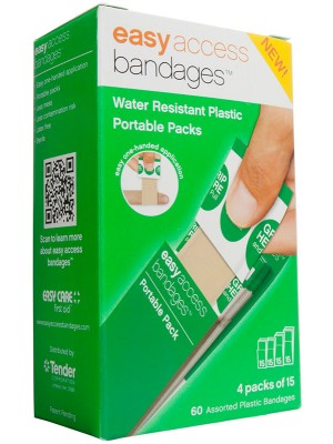 Easy Access Bandages™ Plastic Assorted, 60 Count