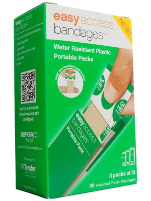 Easy Access Bandages® Plastic Assorted, 30 Count
