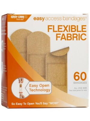 "Easy Access Bandages® Fabric, 1"" x 3"" Strips, 60 Count"