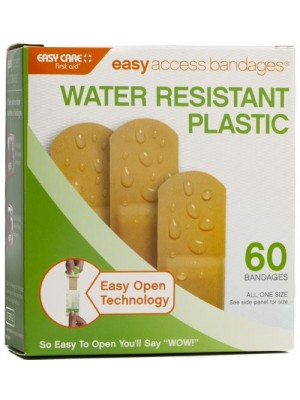 """Easy Access Bandages® Plastic, ¾"""" x 3"""",  60 Count"""